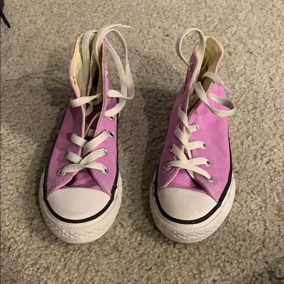 Converse Shoes   Kids Purple High Top